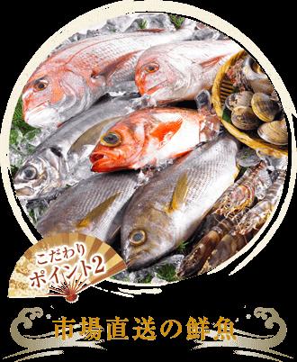 市場直送の鮮魚